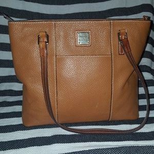 Dooney & Bourke brown leather tote